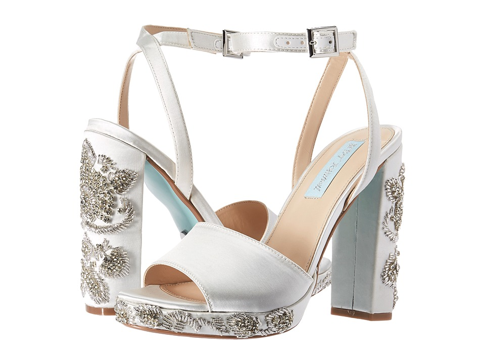 Blue by Betsey Johnson Carin (Ivory Satin) High Heels