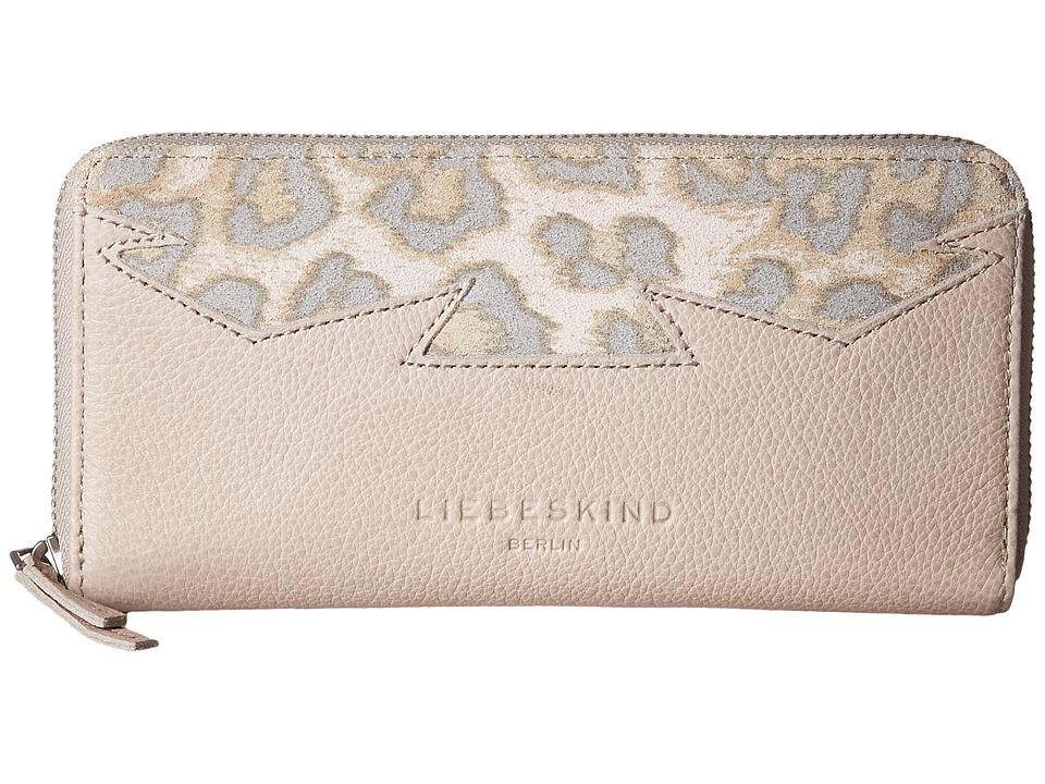 Liebeskind - SallyF7 Leo Ziparound (Desert Beige Leo) Wallet Handbags
