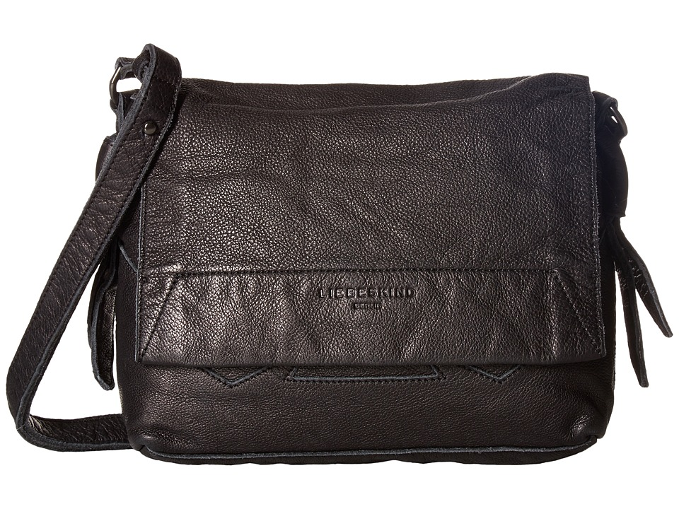 Liebeskind - Funda Double-Dye Flap Crossbody (Nairobi Black) Cross Body Handbags