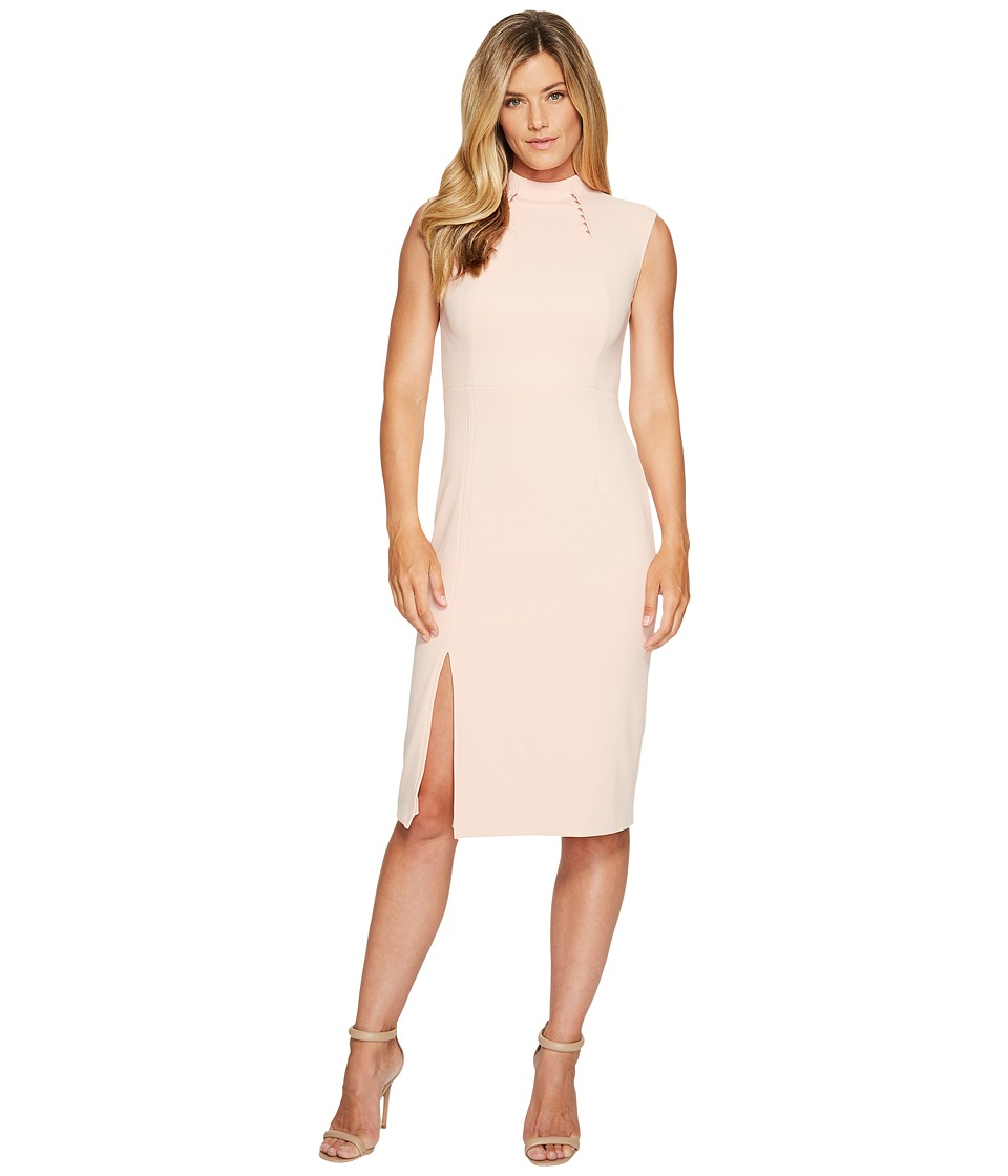Ivanka Trump Sleeveless Scuba Crepe Midi Dress