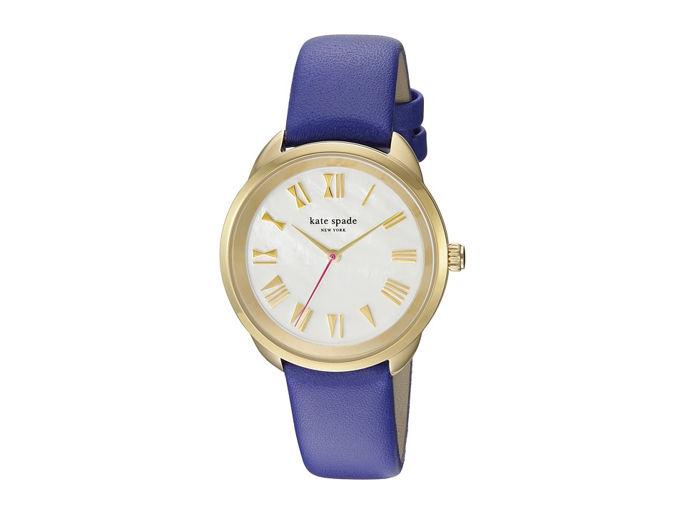Kate Spade New York - Crosstown Mother-of-Pearl - KSW1246 (Gold/Blue) Watches