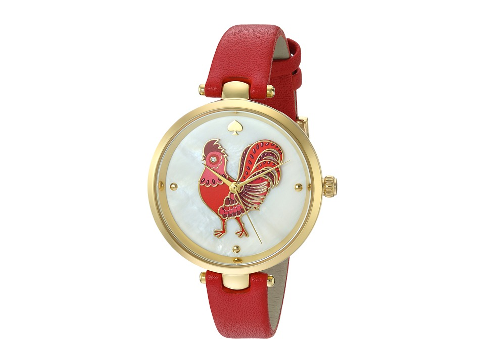 Kate Spade New York - Crosstown - KSW1232 (Gold/Red) Watches