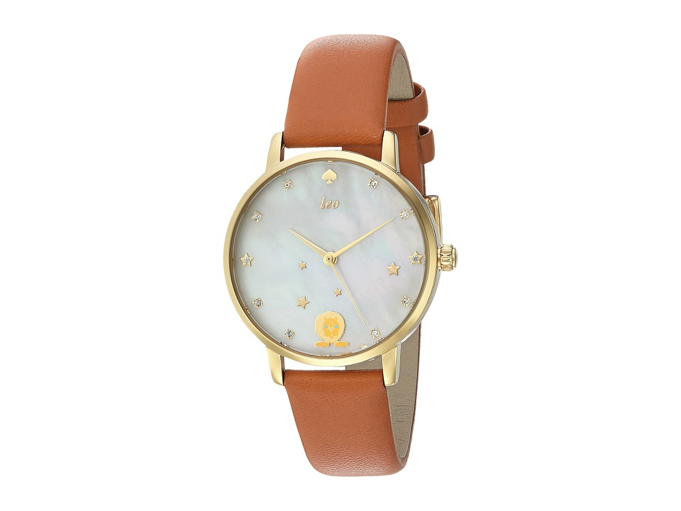 Kate Spade New York - Metro Leather - KSW1190 (Gold/Brown) Watches