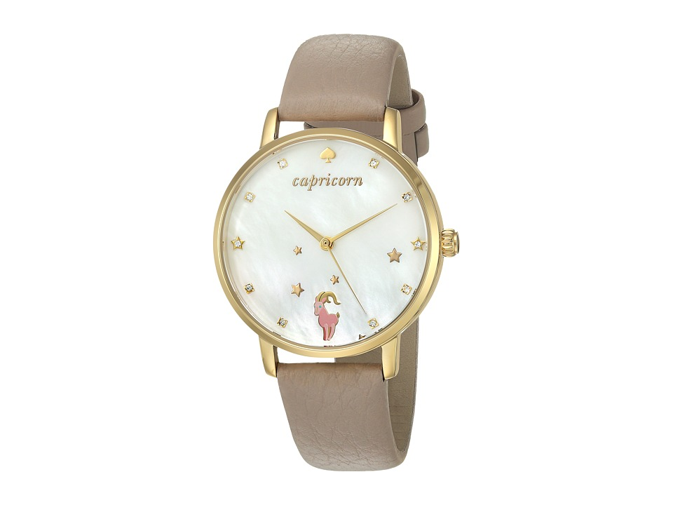 Kate Spade New York - Metro Cap - KSW1193 (Gold/Taupe) Watches