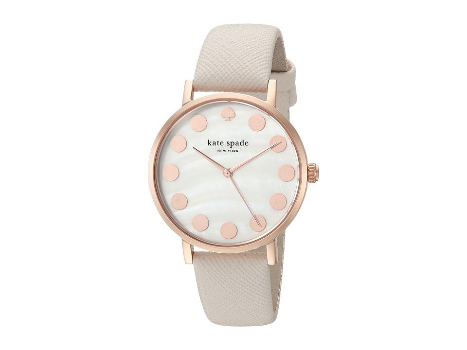 Kate Spade New York - Dot - 1YRU0734 (Rose Gold/Taupe) Watches