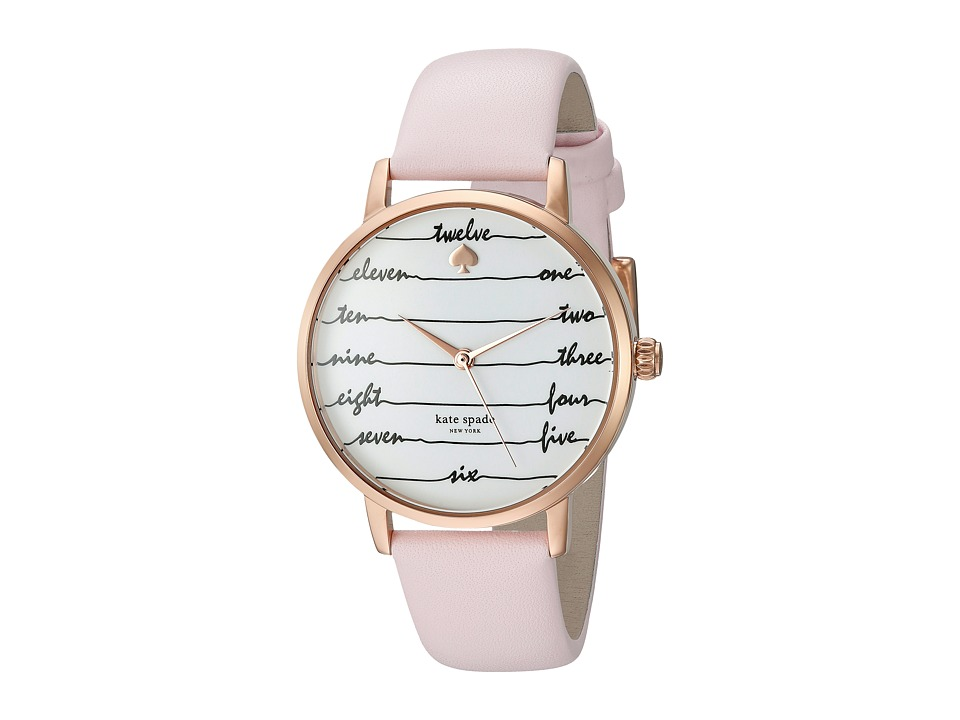 Kate Spade New York - Metro Chalkboard - KSW1239 (Gold/Pink) Watches