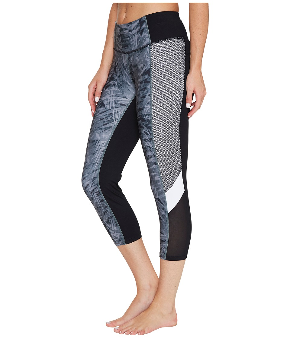 Ivanka Trump - Printed Active Crop Leggings (Grey/Multi) Women's Casual Pants