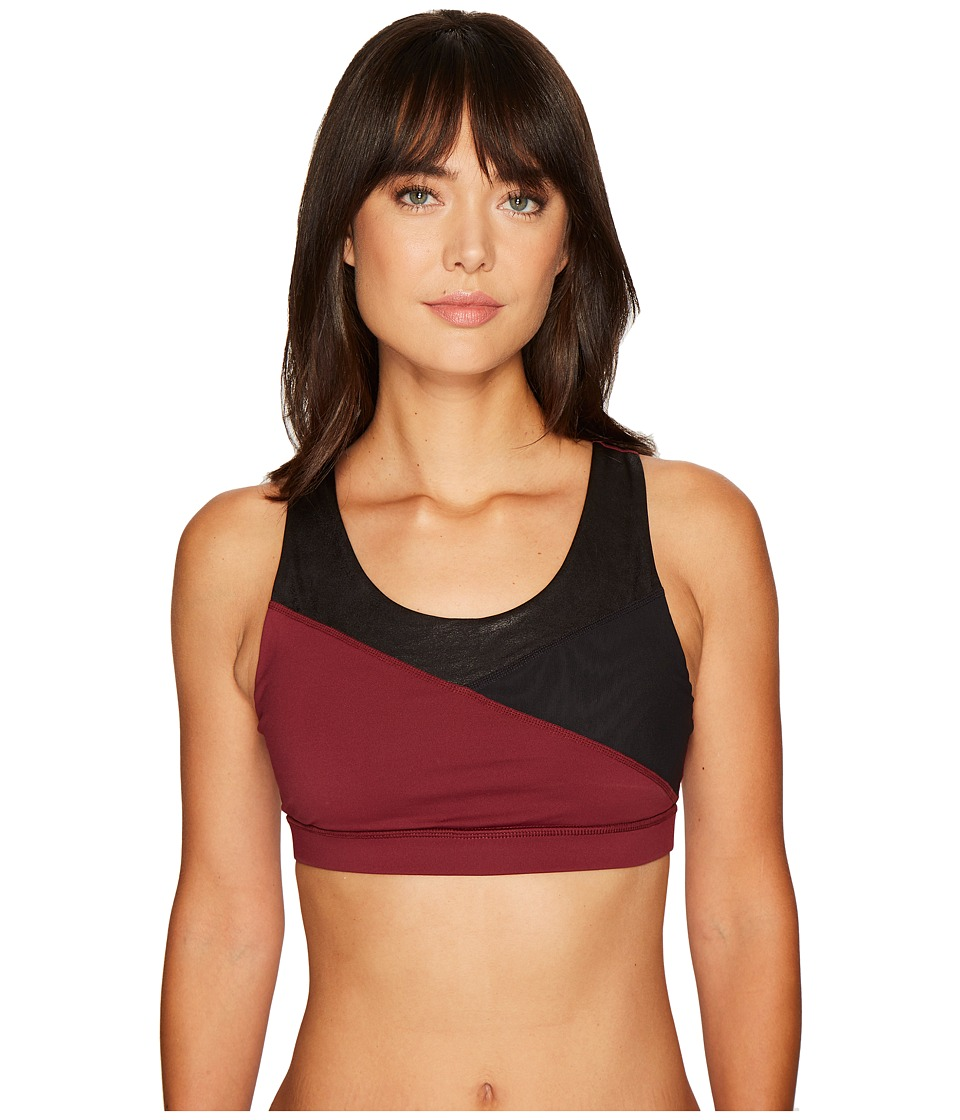 Ivanka Trump Color Block w/ Texture Sports Bra (Windsor Red/Black) Women
