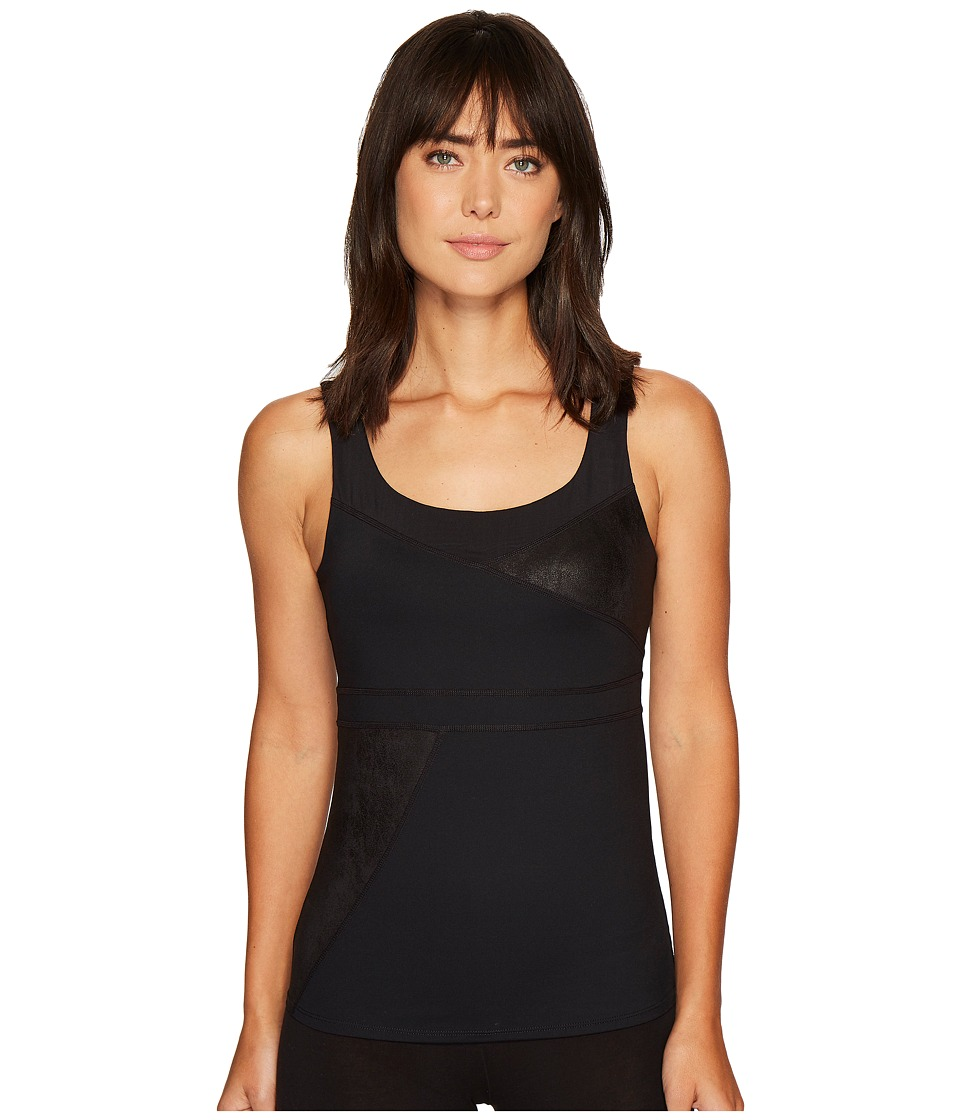 Ivanka Trump Textured Mixed Active Cami (Black) Women