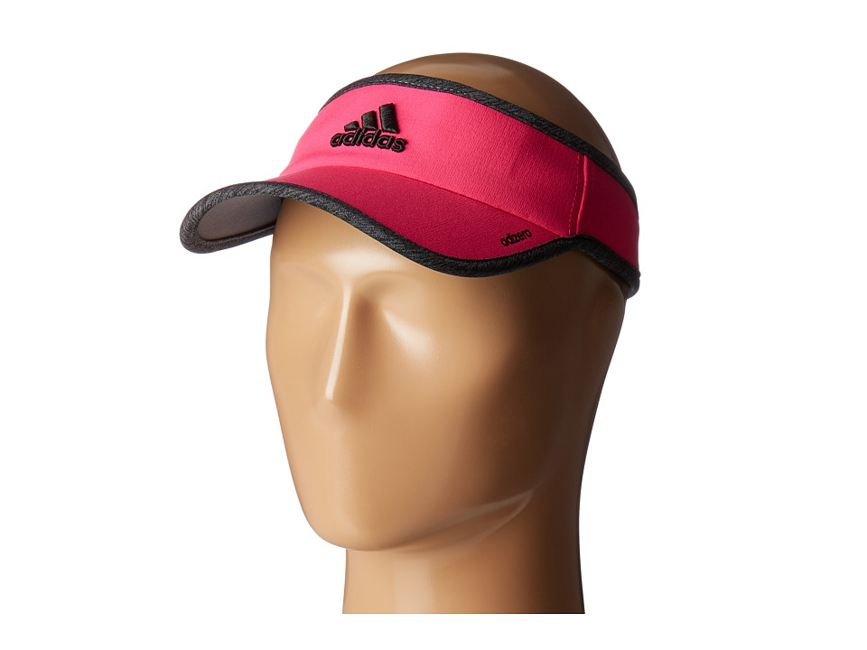 adidas - Adizero II Visor (Shock Pink/Dark Grey Heather/Black) Casual Visor