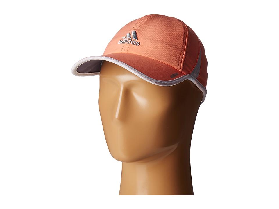adidas - Adizero II Cap (Sun Glow Orange/White/Grey/Clear Onix) Caps