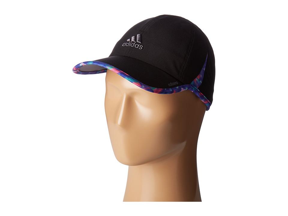adidas - Adizero II Cap (Black/Deepest Space Multi Jawbreaker Print) Caps