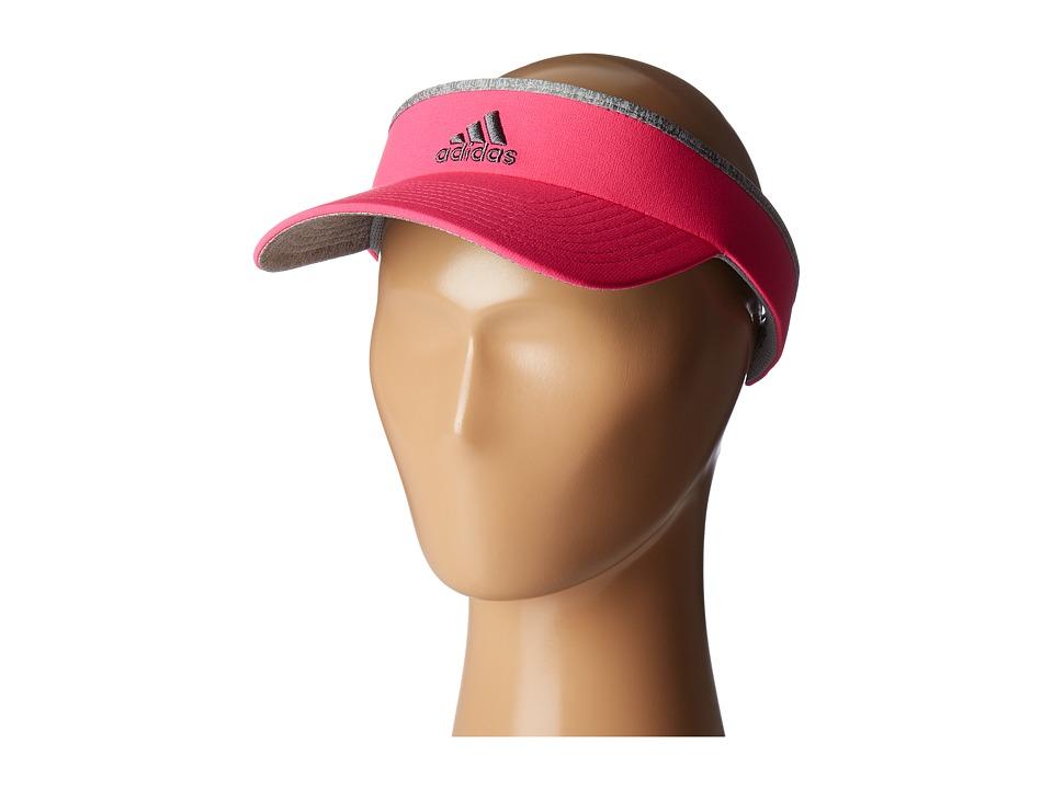 adidas - Match Visor (Shock Pink/Light Heather Grey/Grey) Casual Visor