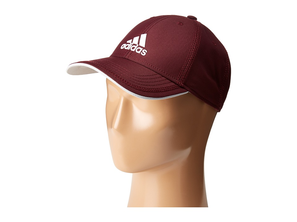 adidas - Contract II Cap (Maroon/White/Clear Grey/White) Caps