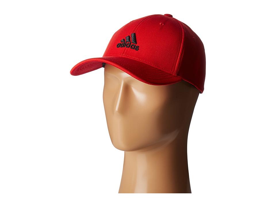 adidas - Rucker Stretch Fit (Scarlet/Black) Caps
