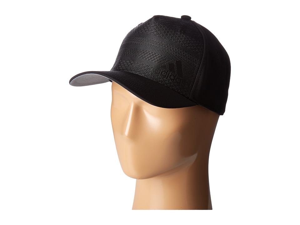 adidas - Capweave Stretch Fit (Black/Black) Caps