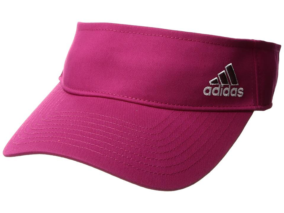 adidas - Squad Visor (Bold Pink/Maroon/White) Casual Visor