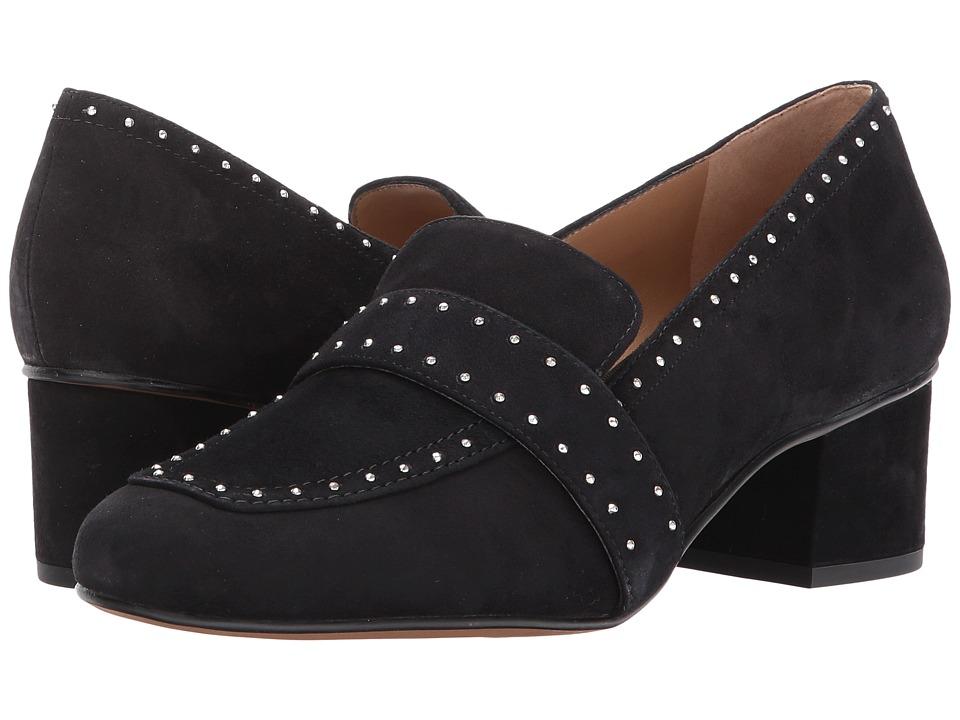 Franco Sarto - Lance (Black Suede) Women's Sling Back Shoes