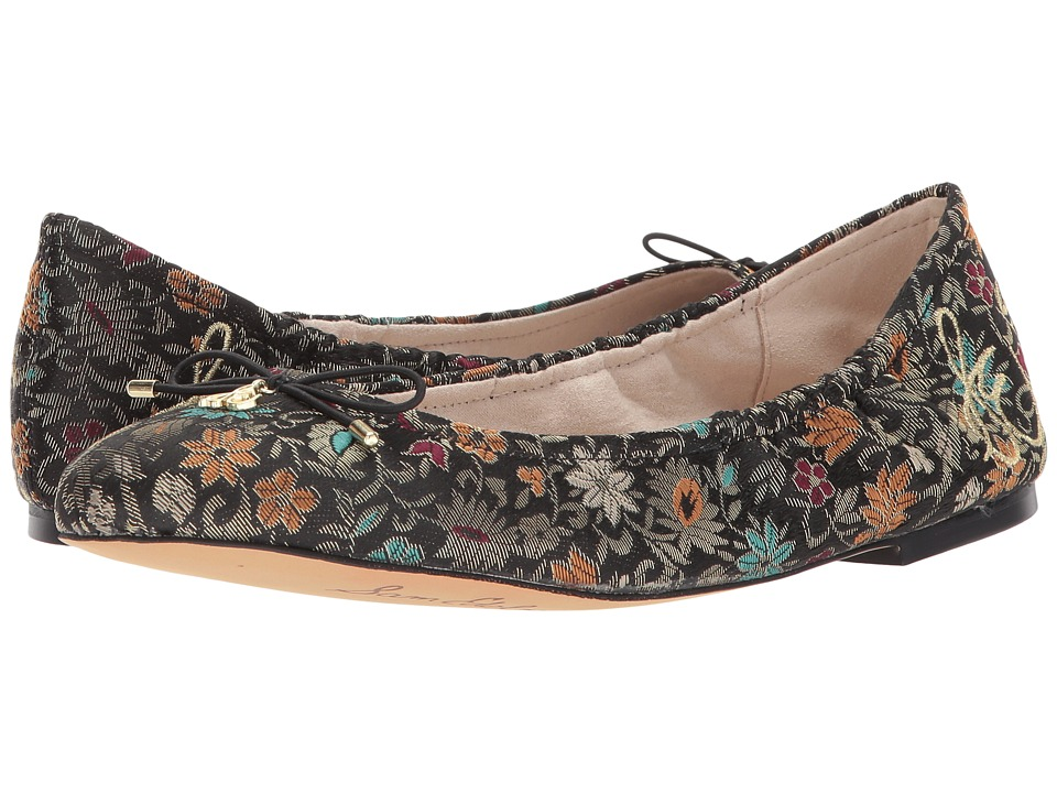 Sam Edelman Felicia (Black Multi Decorative Floral Brocade) Women
