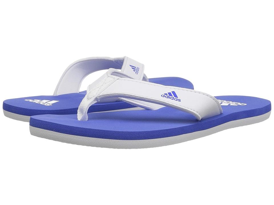 adidas Kids Beach Thong 2 (Toddler/Little Kid/Big Kid) (White/Hi-Res Blue/White) Kids Shoes
