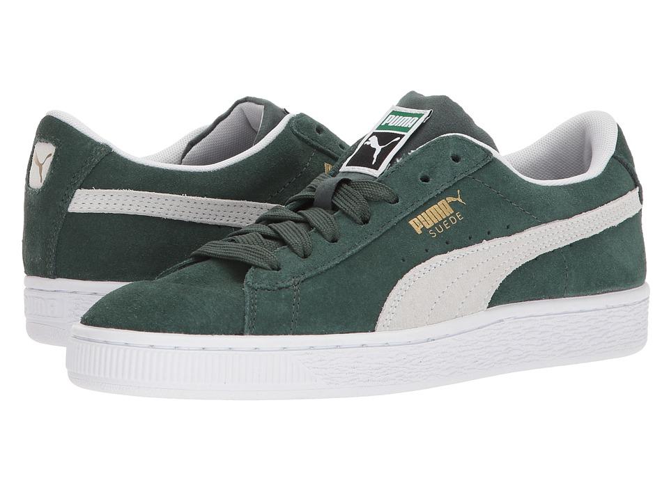 Puma Kids Suede Classic (Big Kid) (Pineneedle/PUMA White) Boys Shoes