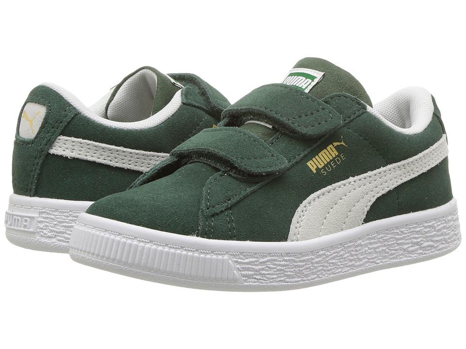 Puma Kids Suede Classic V (Little Kid) (Pineneedle/PUMA White) Boys Shoes