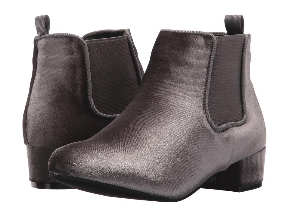 UNIONBAY Kids - Gloria-G (Little Kid/Big Kid) (Grey Velvet) Girl's Shoes