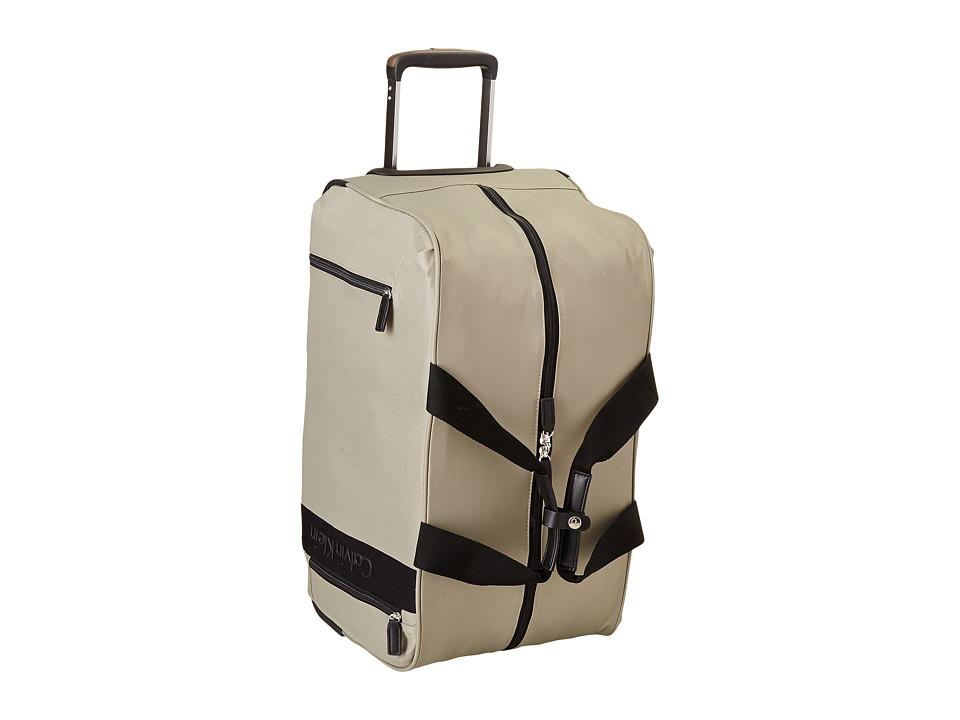 Calvin Klein - Northport 2.0 Large Wheeled Duffel (Beige) Duffel Bags