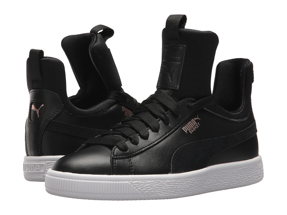 Puma Kids Basket Fierce (Big Kid) (Puma Black/Rose Gold/Puma White) Kids Shoes