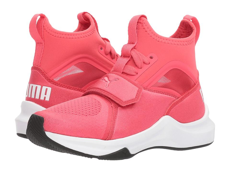 Puma Kids Phenom (Little Kid) (Paradise Pink/Puma White) Girls Shoes