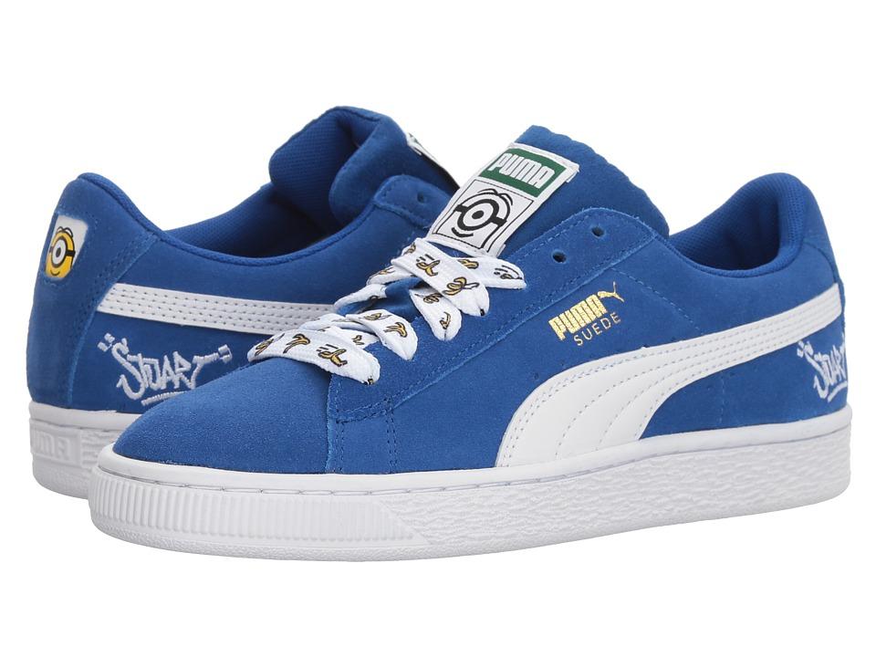 Puma Kids Minions Suede (Big Kid) (Olympian Blue/PUMA White) Kids Shoes