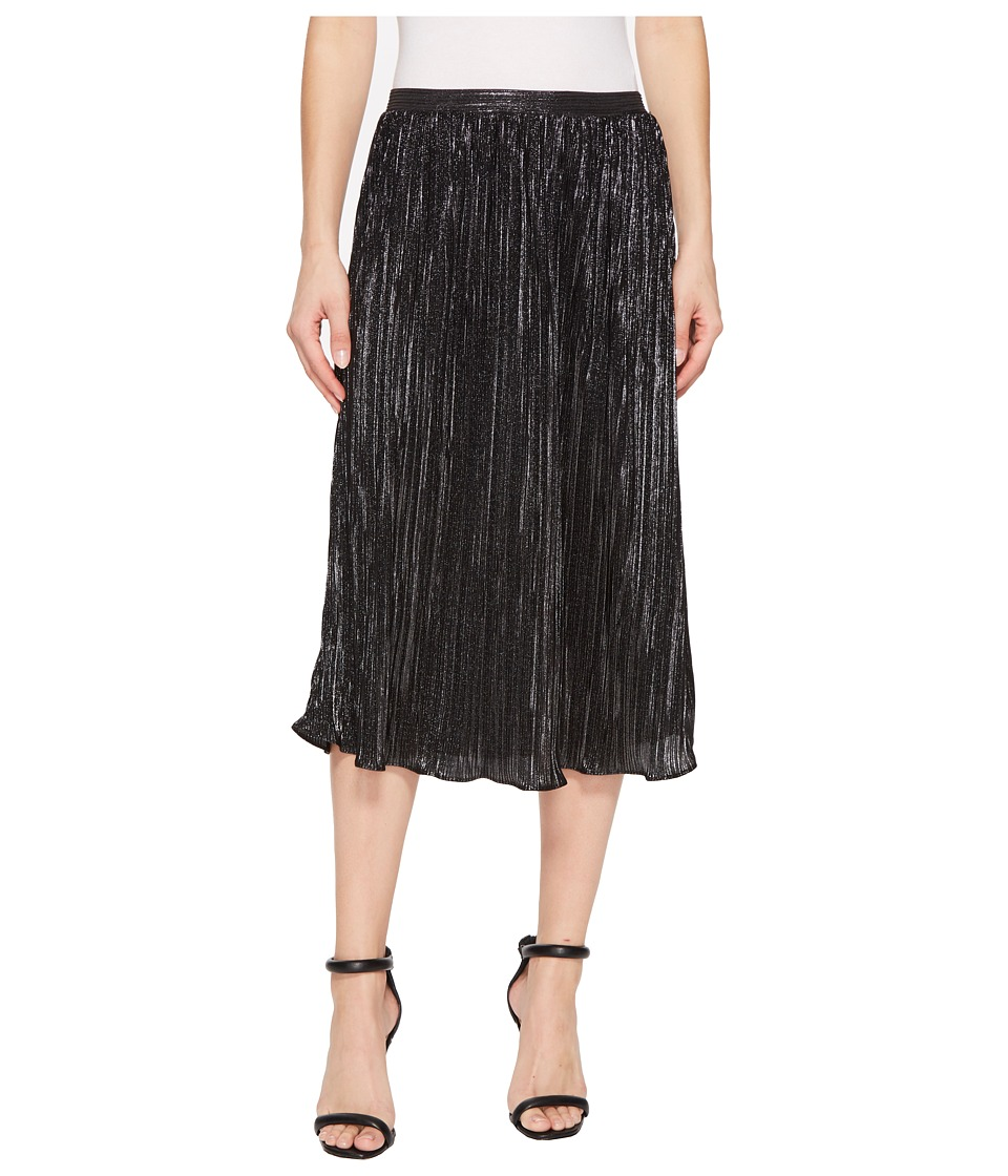 Nally & Millie Pleated Skirt (Silver/Black) Women's Skirt