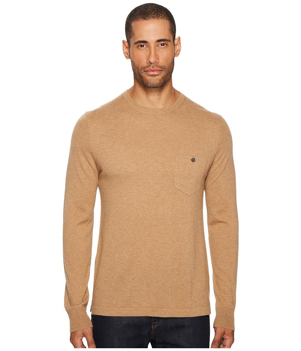 Todd Snyder Long Sleeve Cashmere T-Shirt Sweater (Camel) Men