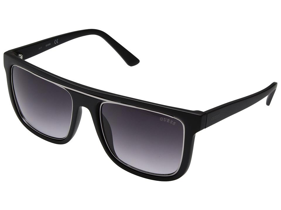 GUESS - GF5018 (Matte Black/Smoke Gradient Lens) Fashion Sunglasses