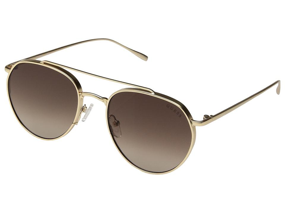 GUESS - GF5019 (Satin Gold/Brown Gradient Lens) Fashion Sunglasses