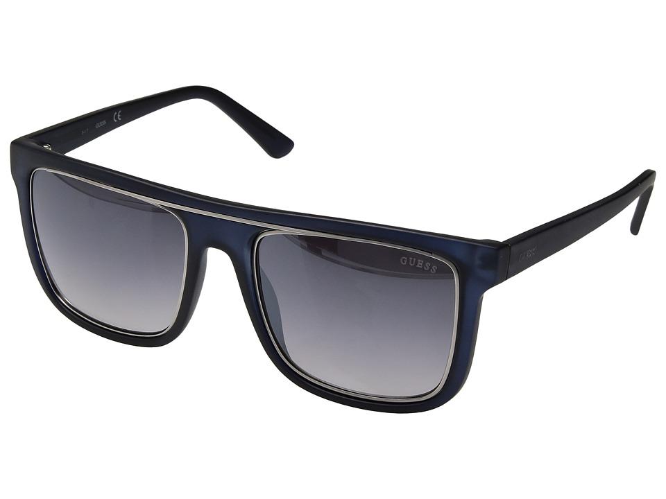 GUESS - GF5018 (Matte Crystal Navy/Smoke Gradient Lens) Fashion Sunglasses