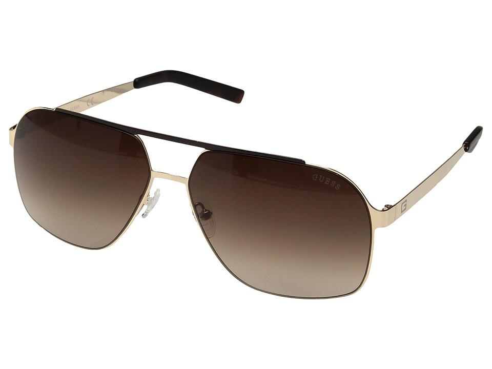 GUESS - GF5020 (Satin Gold/Brown Gradient Lens) Fashion Sunglasses