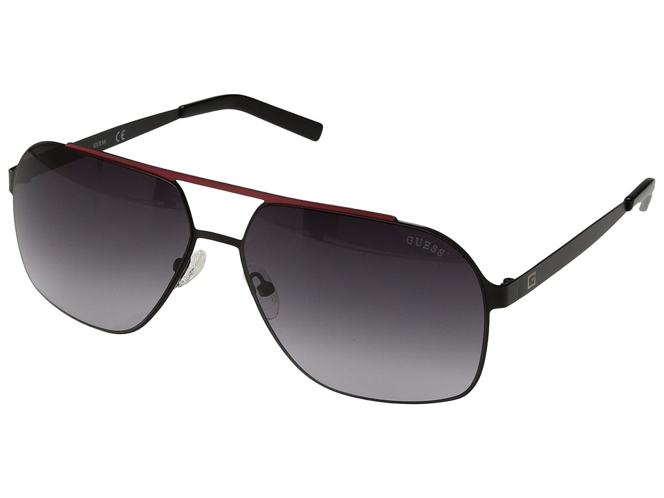 GUESS - GF5020 (Satin Black/Smoke Gradient Lens) Fashion Sunglasses