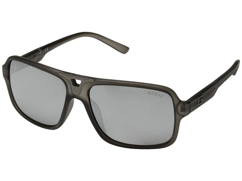 GUESS - GF5022 (Matte Crystal Grey/Smoke Mirror Lens) Fashion Sunglasses