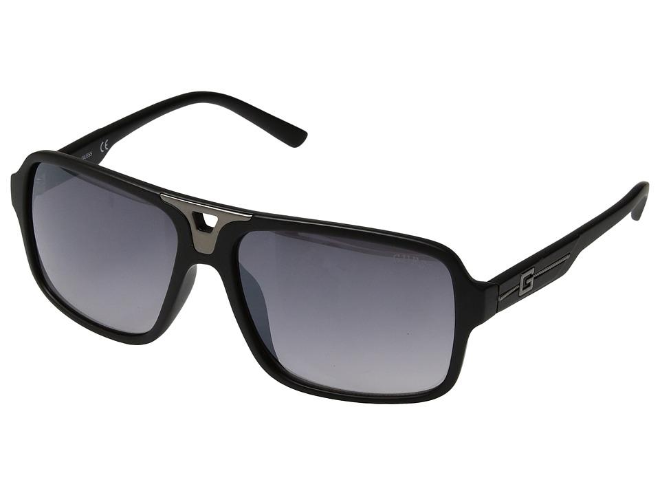 GUESS - GF5022 (Matte Black/Smoke Gradient Flash Lens) Fashion Sunglasses
