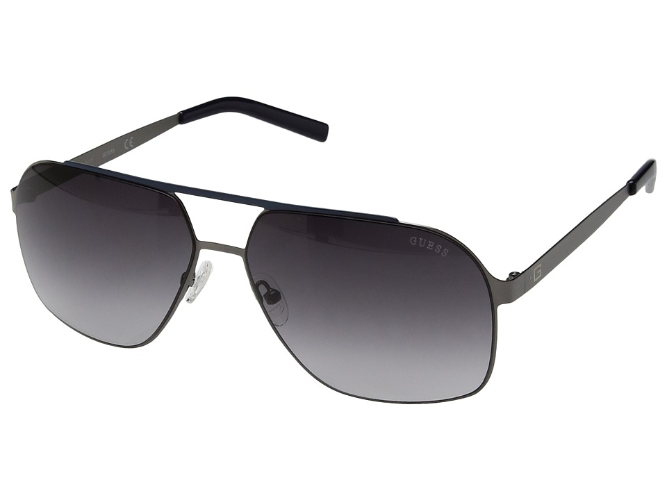 GUESS - GF5020 (Satin Gunmetal/Smoke Gradient Lens) Fashion Sunglasses