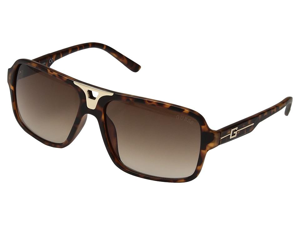 GUESS - GF5022 (Matte Havana/Gradient Brown Lens) Fashion Sunglasses