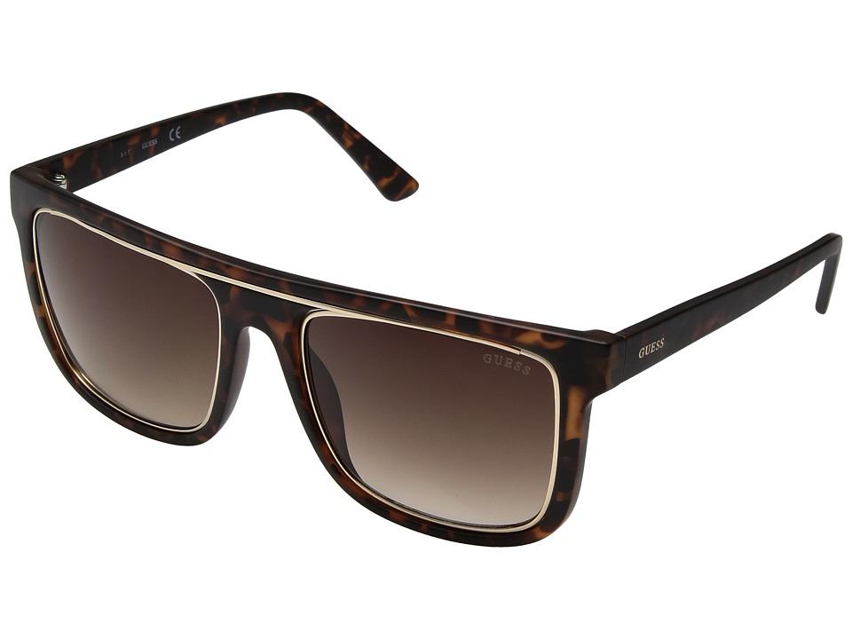 GUESS - GF5018 (Matte Havana/Brown Gradient Lens) Fashion Sunglasses