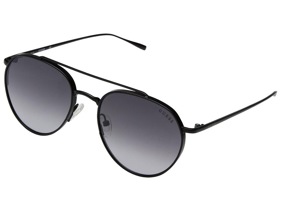 GUESS - GF5019 (Satin Black/Smoke Gradient Lens) Fashion Sunglasses