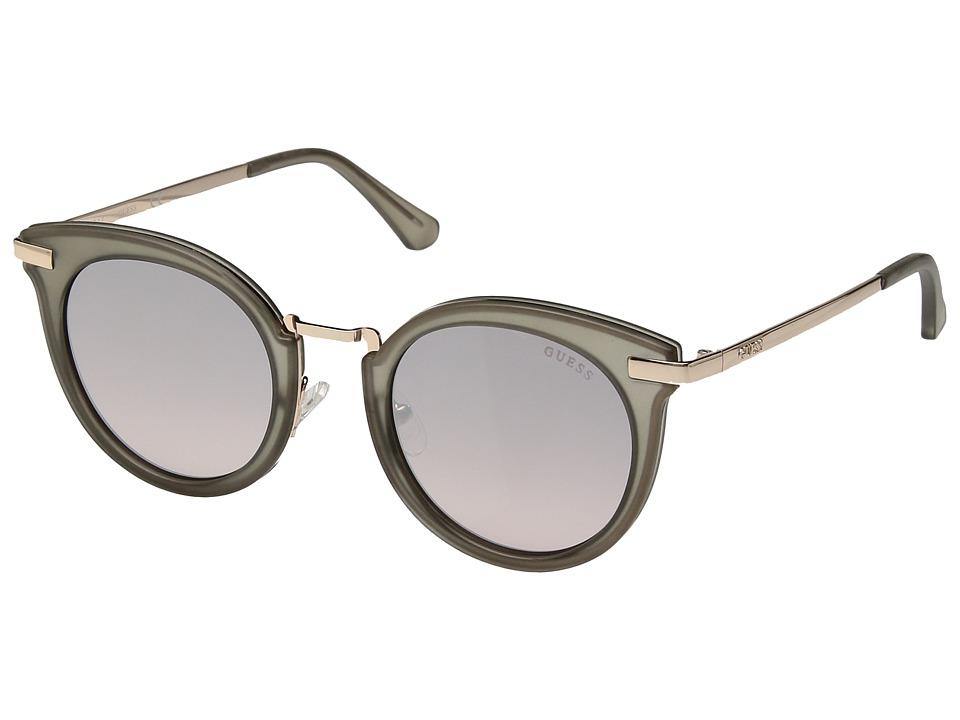 GUESS - GF6041 (Matte Crystal Grey/Smoke to Pink Gradient Lens) Fashion Sunglasses