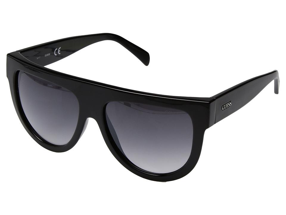 GUESS - GF6042 (Black/Smoke Gradient Lens) Fashion Sunglasses