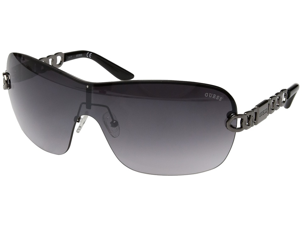 GUESS - GF6043 (Gunmetal/Smoke Gradient Flash Lens) Fashion Sunglasses