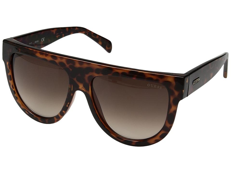 GUESS - GF6042 (Dark Havana/Brown Gradient Lens) Fashion Sunglasses