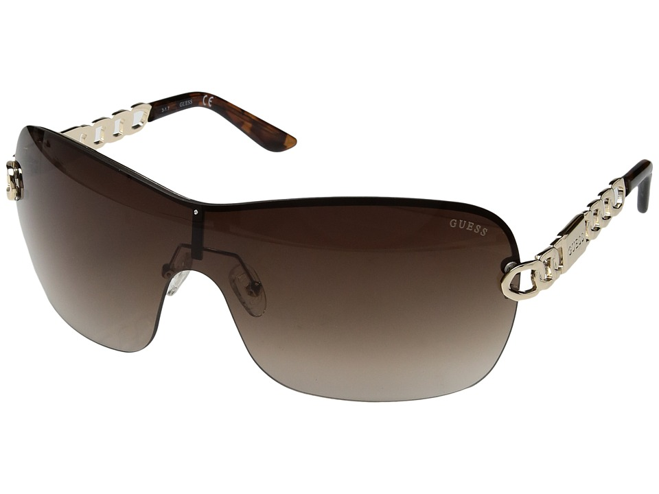 GUESS - GF6043 (Gold/Brown Gradient Lens) Fashion Sunglasses