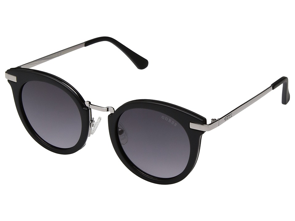 GUESS - GF6041 (Matte Black/Smoke Gradient Lens) Fashion Sunglasses